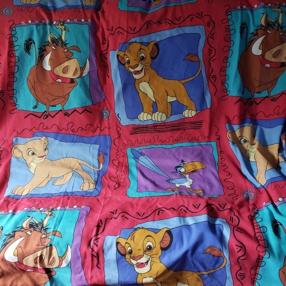 Disney Other - Vintage The Lion King FULL Size Flat Sheet